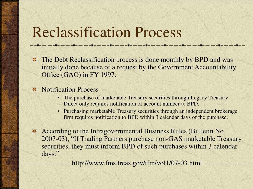 Reclassification Process