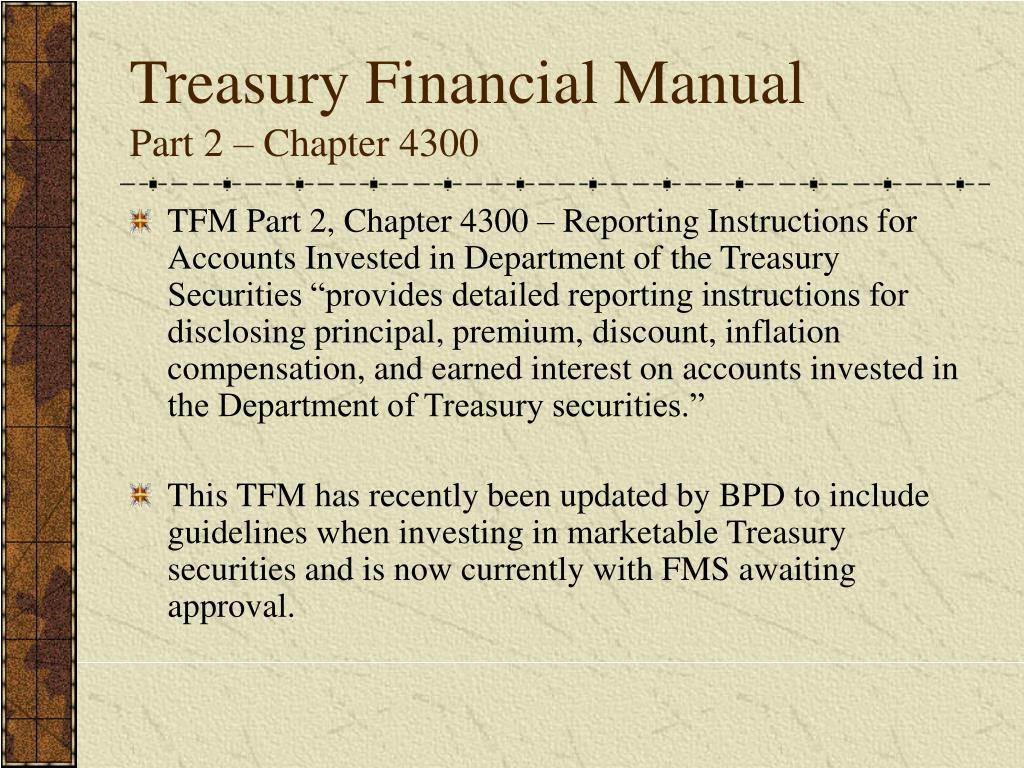 Treasury Financial Manual