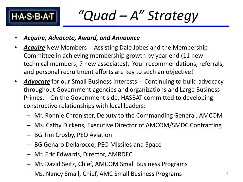 """Quad – A"" Strategy"