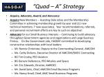 quad a strategy