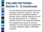 failure patterns section c d continued