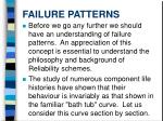 failure patterns