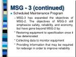 msg 3 continued