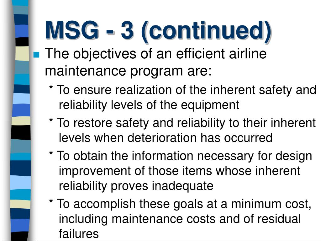 MSG - 3 (continued)