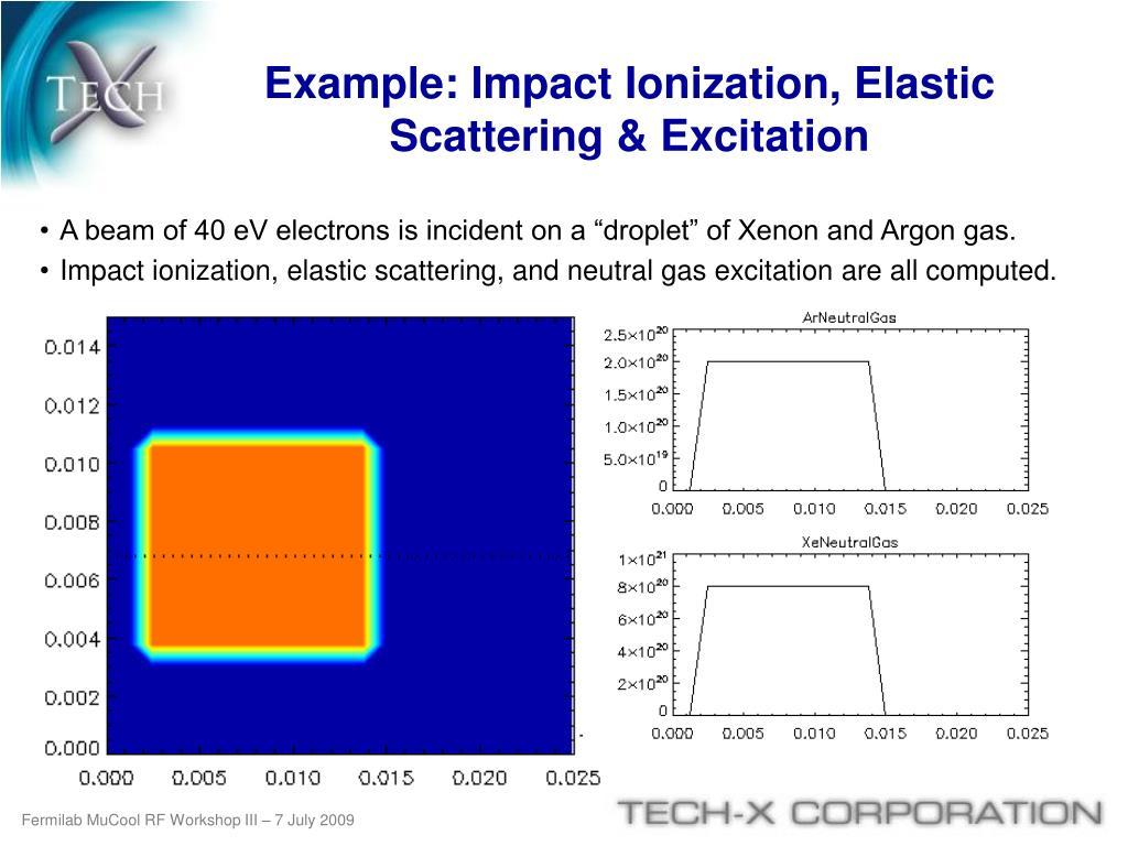 Example: Impact Ionization, Elastic Scattering & Excitation