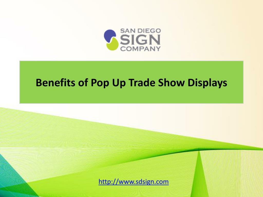 Benefits of Pop Up Trade Show Displays
