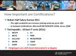 how important are certifications