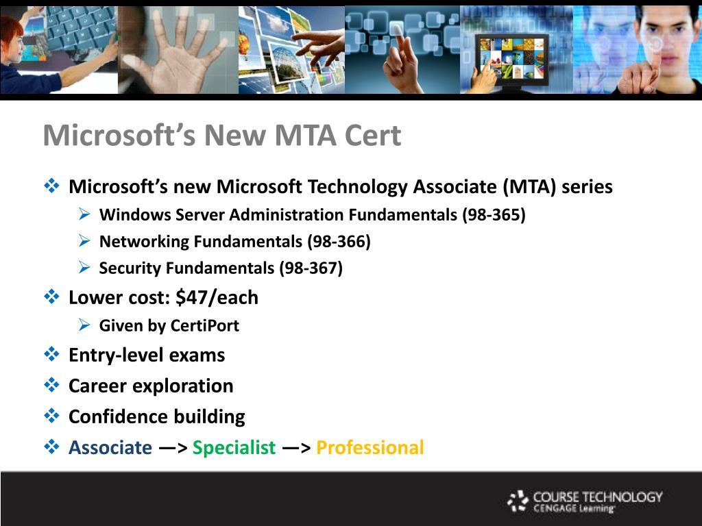 Microsoft's New MTA Cert