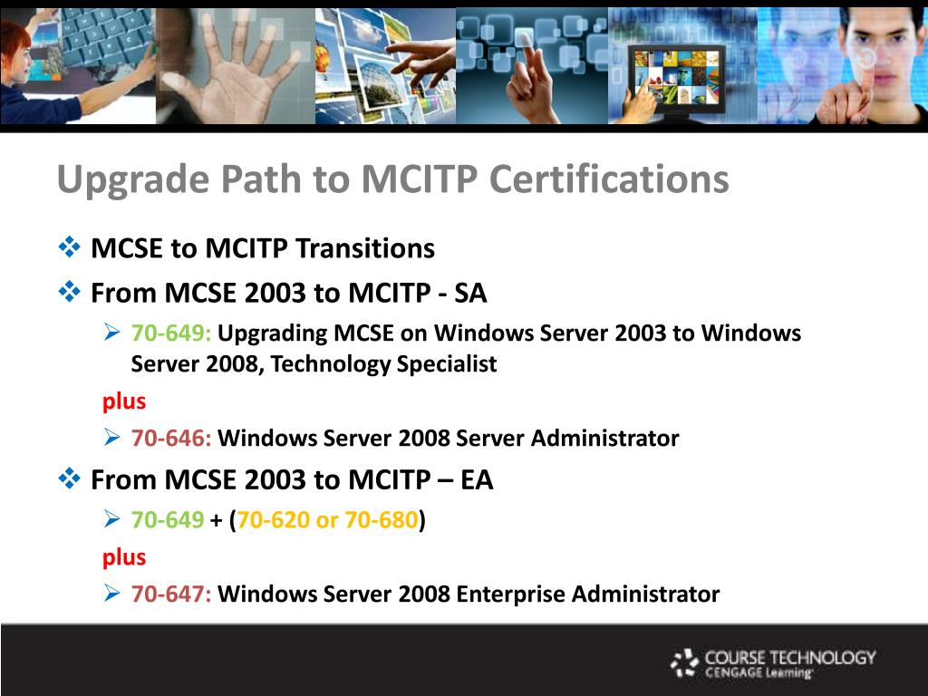 Upgrade Path to MCITP Certifications