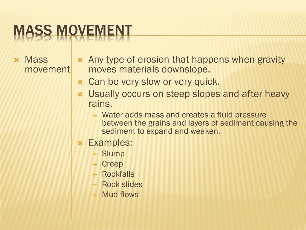 Mass Movement