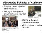 observable behavior of audience