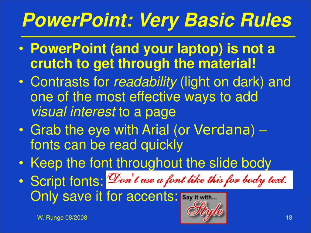 PowerPoint: Very Basic Rules