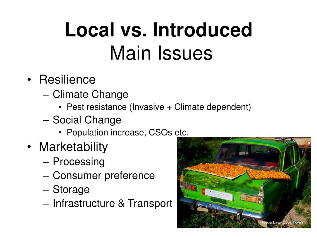 Local vs. Introduced