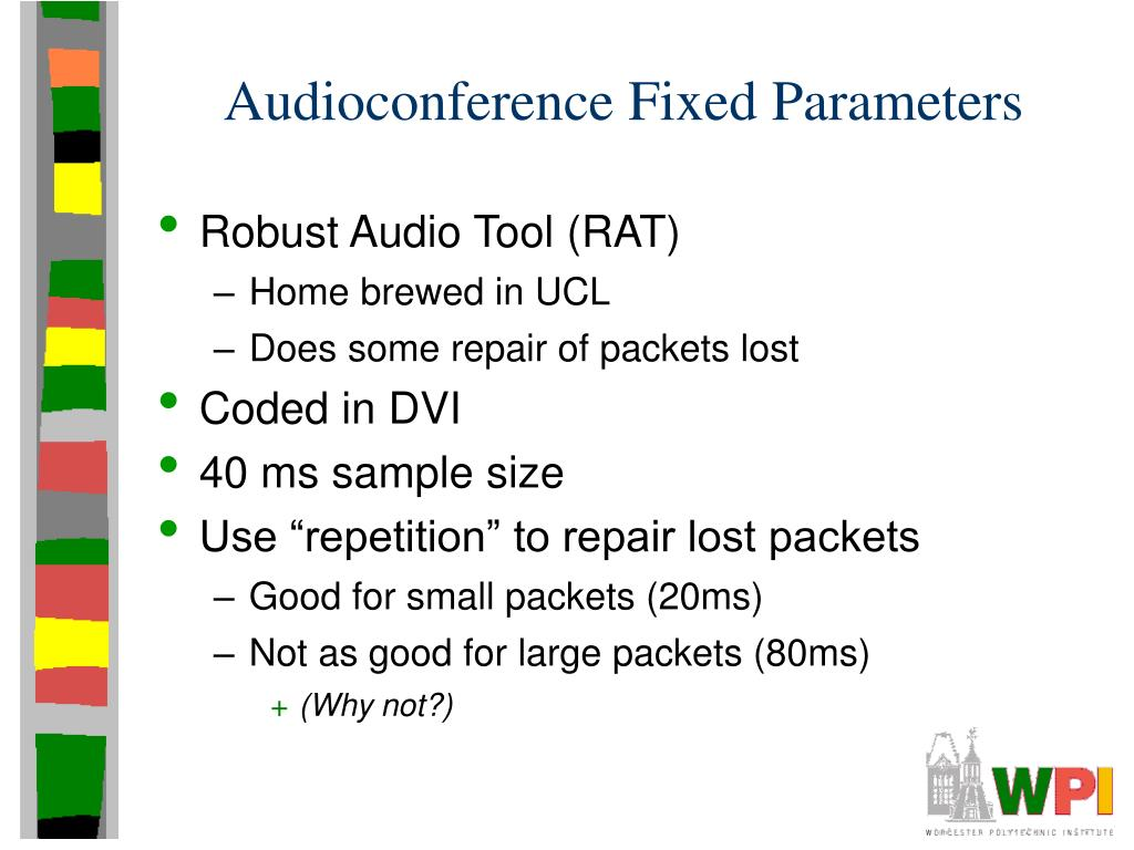 Audioconference Fixed Parameters