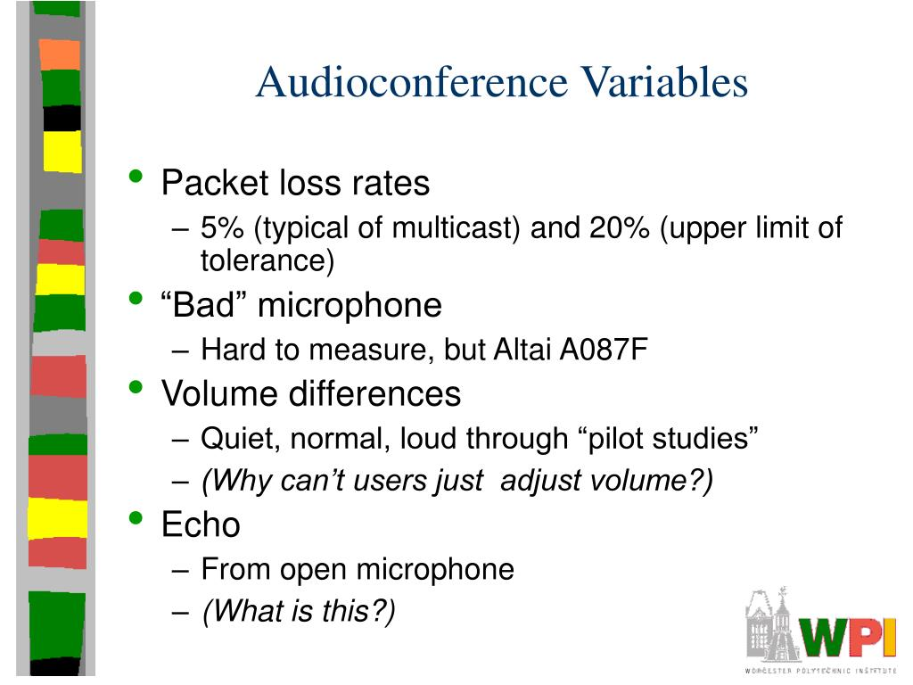Audioconference Variables