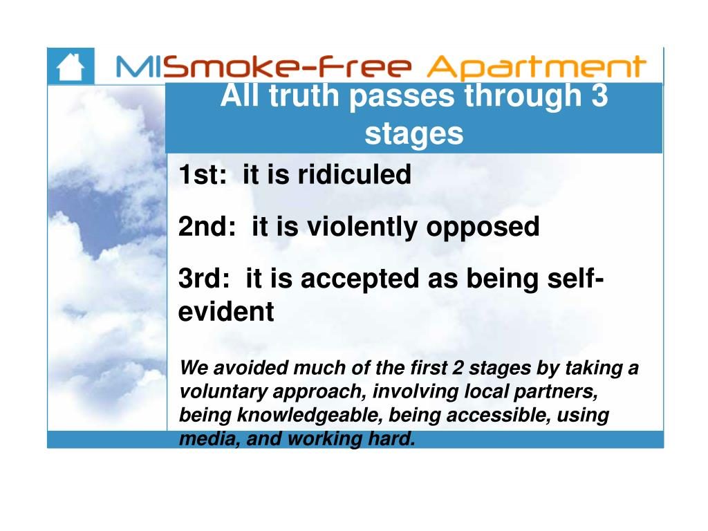 All truth passes through 3 stages