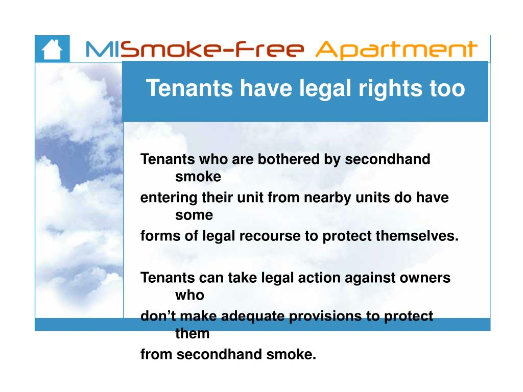 Tenants have legal rights too