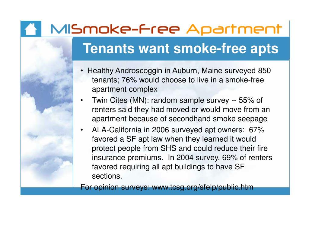 Tenants want smoke-free apts