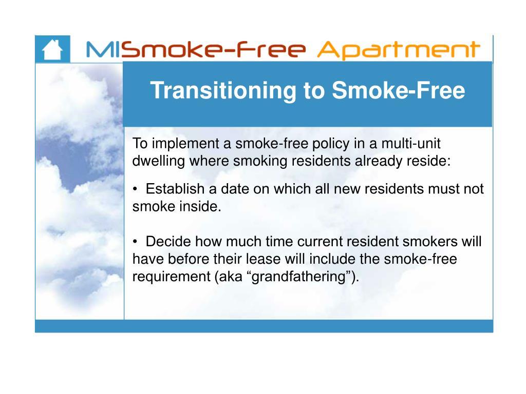 Transitioning to Smoke-Free