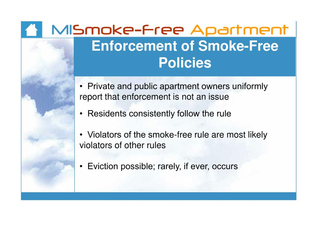 Enforcement of Smoke-Free Policies