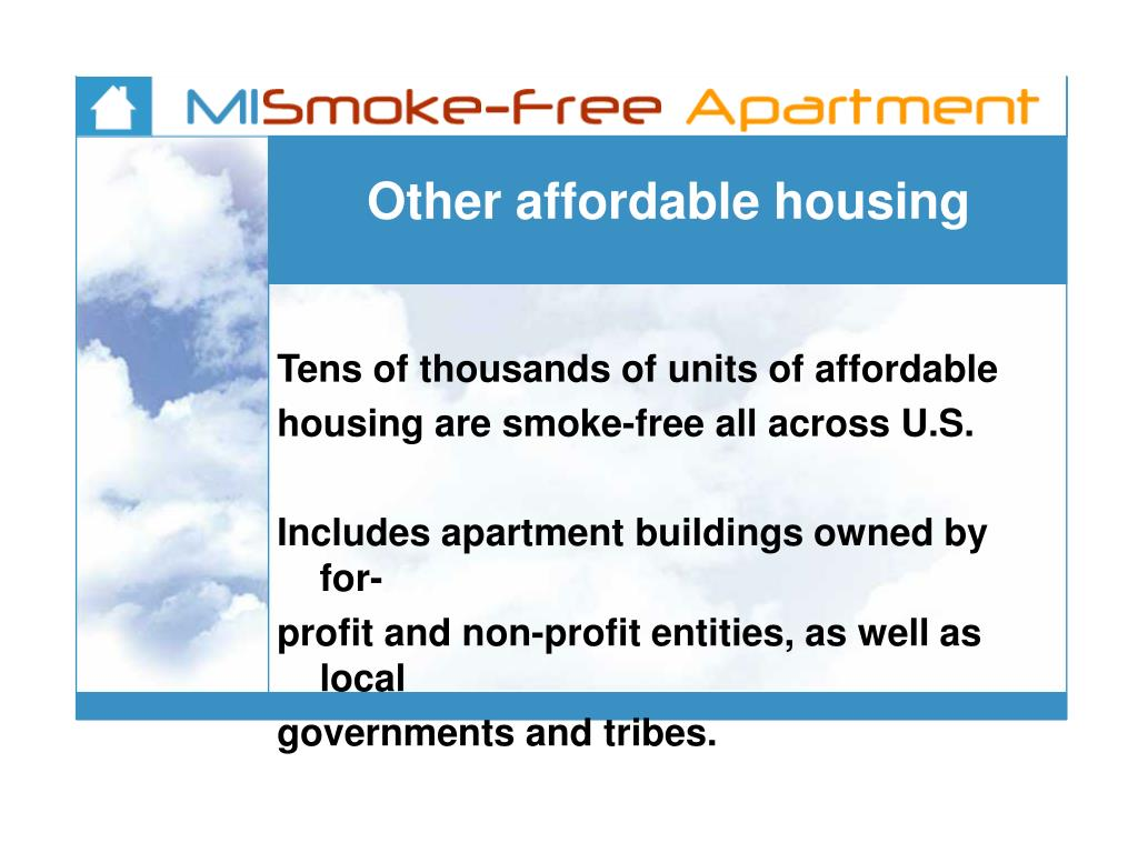 Other affordable housing