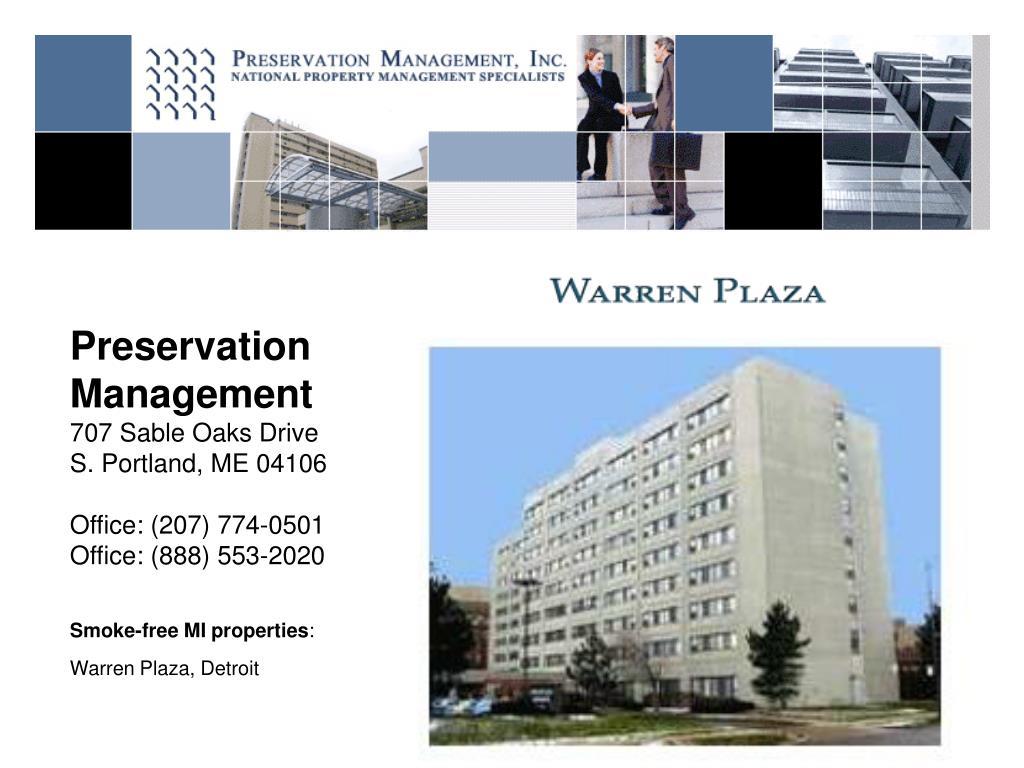 Preservation Management