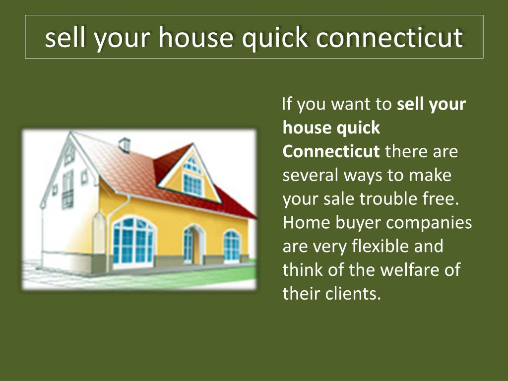 sell your house quick connecticut