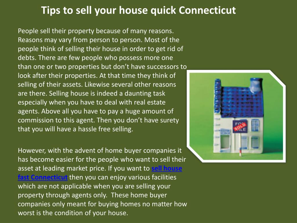 Tips to sell your house quick Connecticut