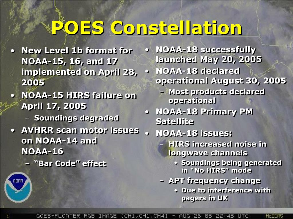 New Level 1b format for NOAA-15, 16, and 17 implemented on April 28, 2005