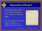 dimensions of respect5