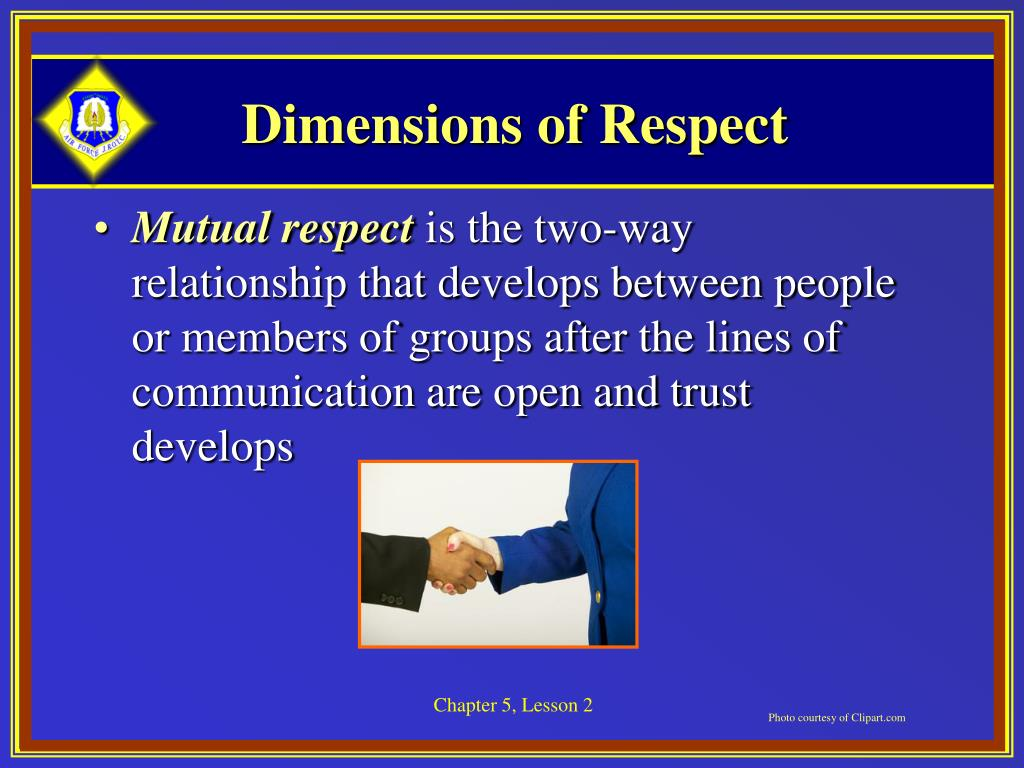 Dimensions of Respect