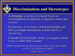 discrimination and stereotypes