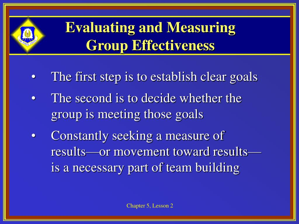 Evaluating and Measuring