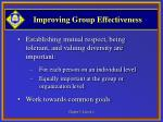 improving group effectiveness