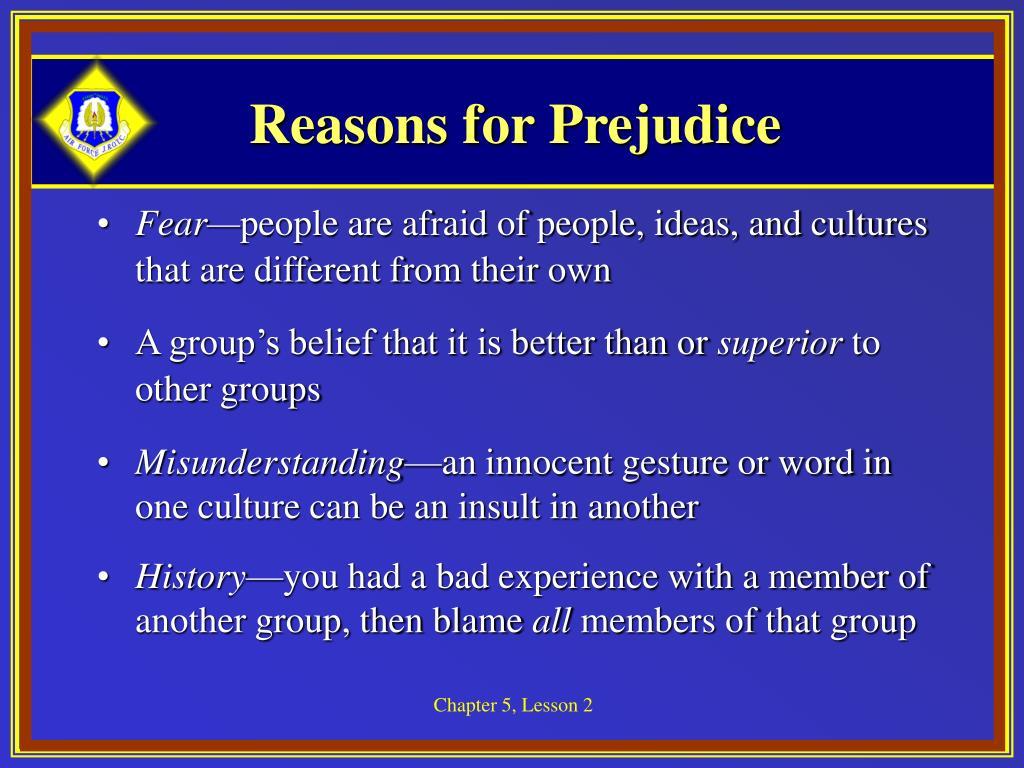 Reasons for Prejudice