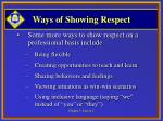 ways of showing respect11