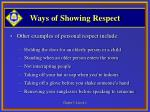 ways of showing respect9
