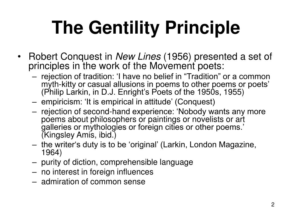 The Gentility Principle