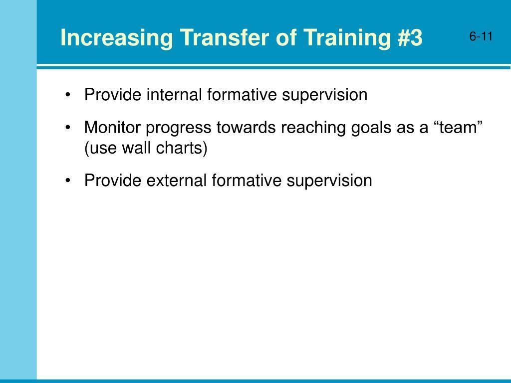 Increasing Transfer of Training #3