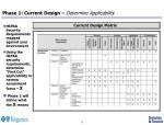 phase 1 current design determine applicability