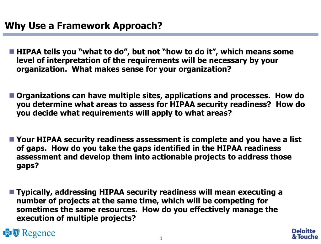 Why Use a Framework Approach?