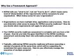 why use a framework approach