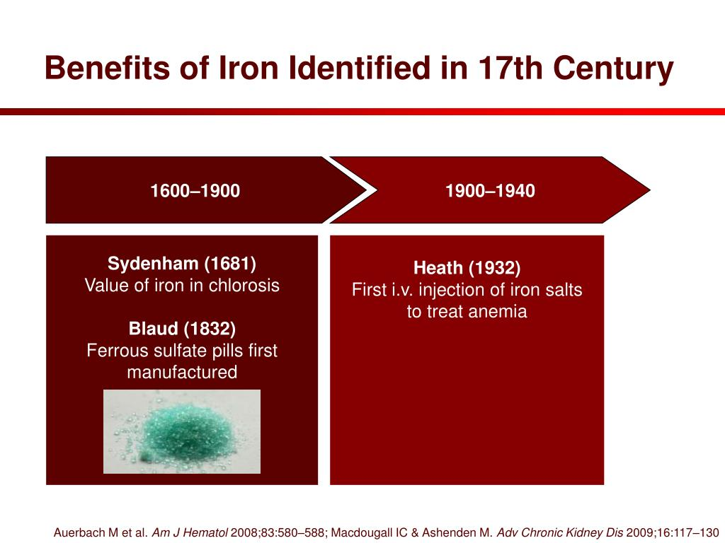 Benefits of Iron Identified in 17th Century