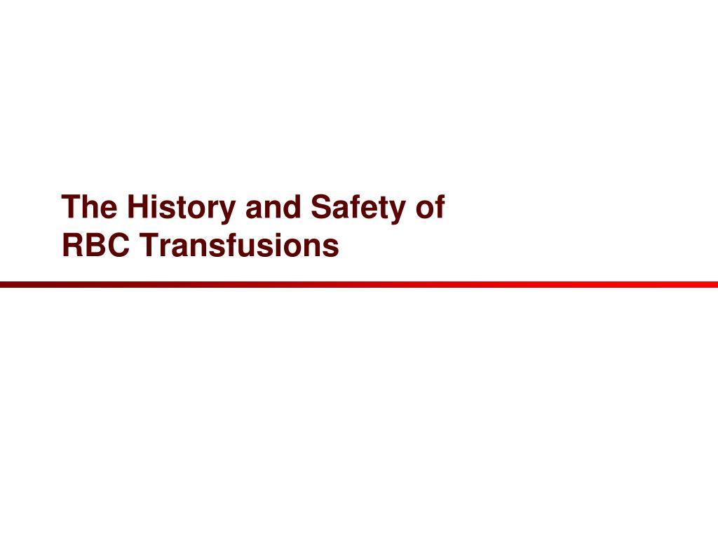The History and Safety of