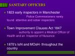 sanitary officers