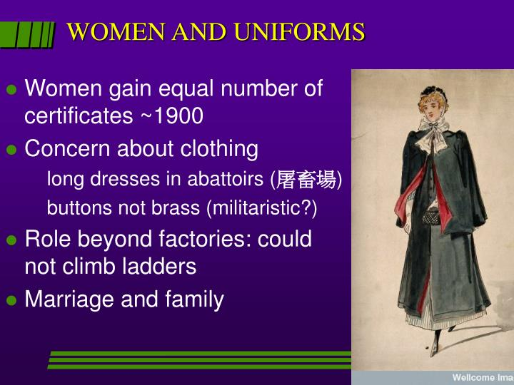 WOMEN AND UNIFORMS