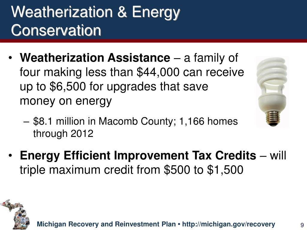 Weatherization & Energy Conservation