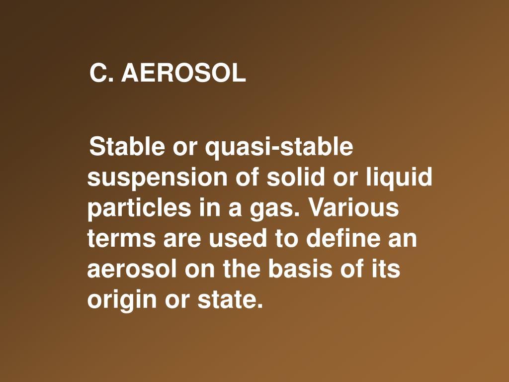C. AEROSOL