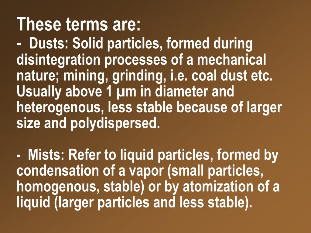 These terms are: