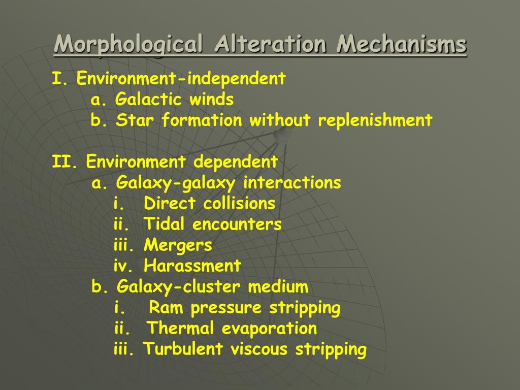 Morphological Alteration Mechanisms